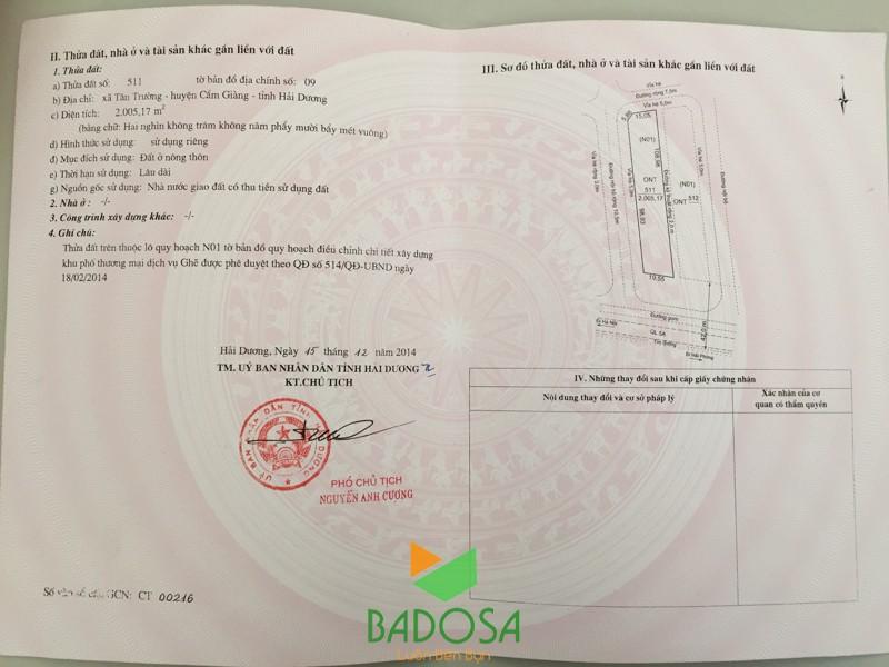 Giấy chứng nhận quyền sử dụng đất, Quyền sử dụng nhà ở, Cấp giấy chứng nhận quyền sử dụng đất, Quyền sử dụng đất, Công ty Badosa